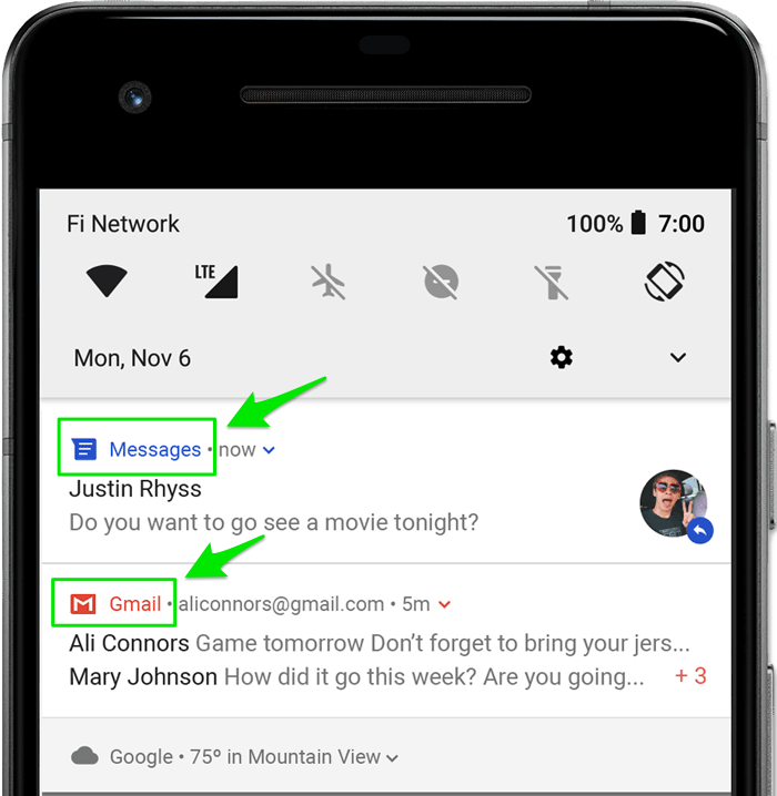 Colored application name for Android notification – Pushwoosh